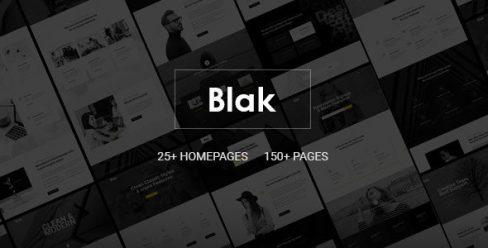 Blak – Responsive MultiPurpose Joomla Website Template With Page Builder – 23787647
