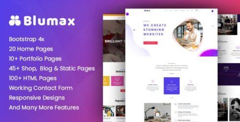 Blumax – Multipurpose Responsive Joomla Website Template – 24428946