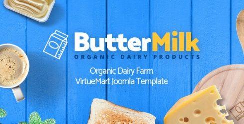 ButterMilk – Organic Dairy Farm VirtueMart Joomla Template – 22733380