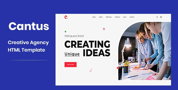 Cantus – One Page Agency HTML Template – 26301815 Free Download