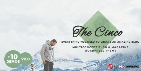 Cinco – Multi-Concept Elegant WordPress Blog Theme – 18722656