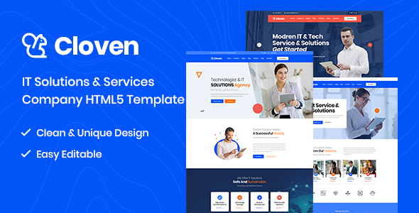 Cloven – IT Solutions And Services Company HTML5 Template – 25368682 Free Download