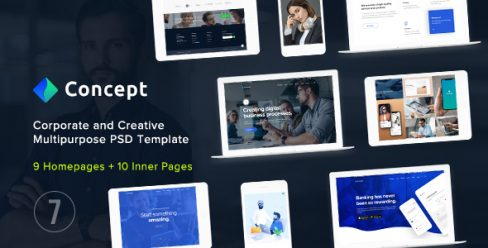 Concept Seven – Corporate and Creative Multipurpose PSD Template – 23354720