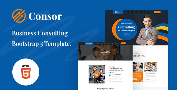 Consor – Business Consulting Bootstrap 5 Template – 31575510 Free Download