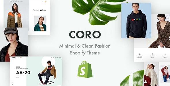 CORO – Minimal & Clean Fashion Shopify Theme – 23205783 Free Download