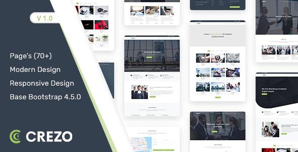 Crezo – Multipurpose HTML5 Template – 31540041 Free Download
