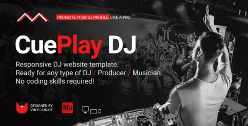 CuePlay – DJ / Producer / Music Band Responsive Website Muse Template – 21540981