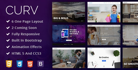 CURV: One Page Multipurpose Parallax – 20830105 Free Download