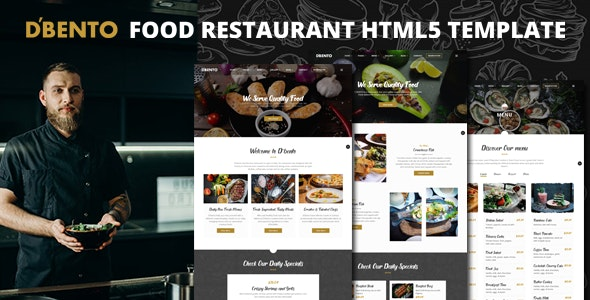 Dbento | Food Restaurant HTML5 Template – 31600280 Free Download