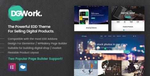 DGWork – Responsive Digital Shop & Market Easy Digital Downloads Theme – 18105506