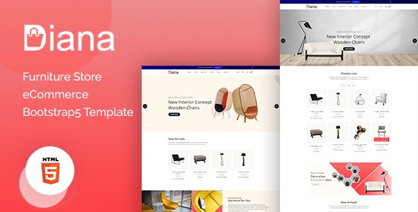 Diana – Furniture Store eCommerce Template – 31671138 Free Download