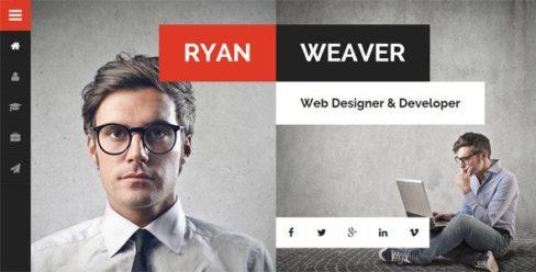 Divergent – Personal Vcard Resume WordPress Theme – 13224711