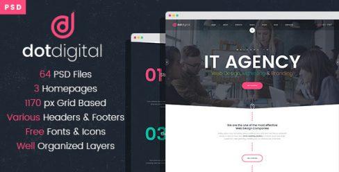 DotDigital – Web Design Agency PSD Template – 23107131