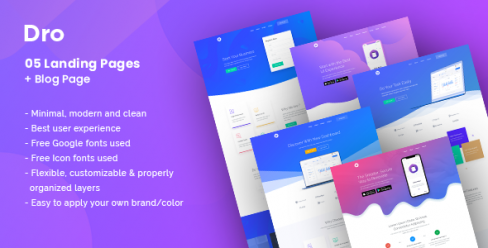 Dro – Software, App, Saas & Product Showcase Landing Page – 23071821
