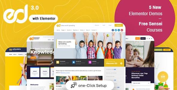 Ed School: Education WordPress Theme – 19618075 Free Download