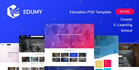 Edumy – LMS Online Education Course & School PSD Template – 23472852