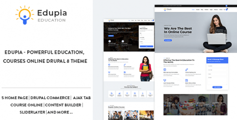 Edupia – Powerful Education, Courses Online Drupal 8.7 Theme – 23157130