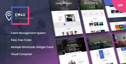 Events WordPress Theme for Booking Tickets – EM4U – 20846579