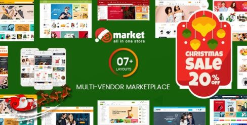 eMarket – Multi Vendor MarketPlace WordPress Theme (7+ Homepages & 2 Mobile Layouts Ready) – 20492674