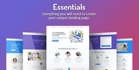 Essentials – High Converting SaaS Landing Page Template – 23220583