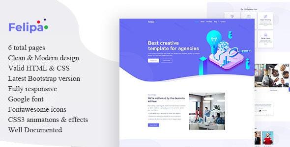 Felipa – Agency Template – 23491796 Free Download