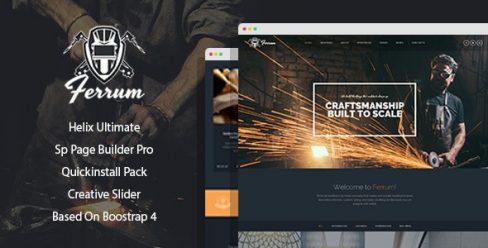 Ferrum – Welding And Metal Works Joomla Template With Page Builder – 24603559