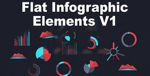 Flat Infographic Elements V1 – 5046616