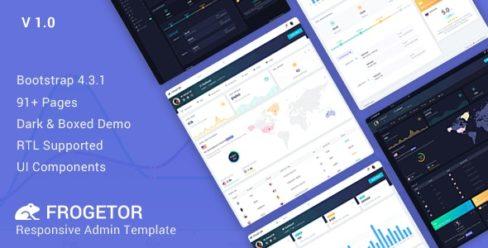Frogetor – Responsive Admin Dashboard Template – 23583559