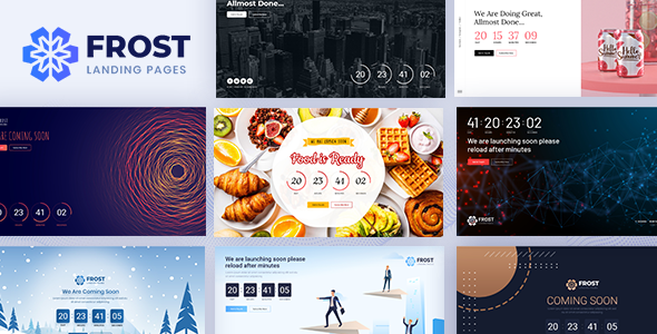 Frost – Coming Soon, Under Construction Bootstrap 4 Template – 25622626 Free Download
