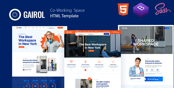 Gairol – Coworking Space HTML5 Template – 25804983 Free Download