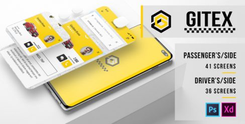 Gitex – Taxi Ui Kit for Mobile App – 23889839