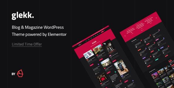 Glekk – Elementor Blog & Magazine WordPress Theme – 27179343 Free Download