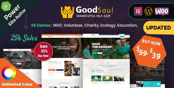 GoodSoul – Charity & Fundraising WordPress Theme – 25406740 Free Download