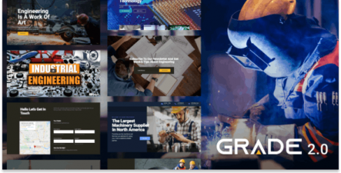 Grade 2.0 – Manufacturing and Industrial WordPress Theme – 17334925