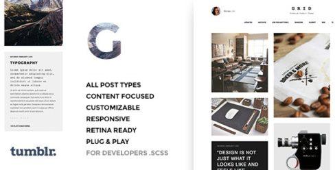 Grid – Responsive Portfolio – Tumblr Theme – 10396175