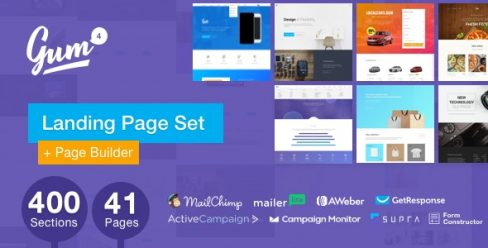Gum – Landing Page Pack with a Builder – 17662160