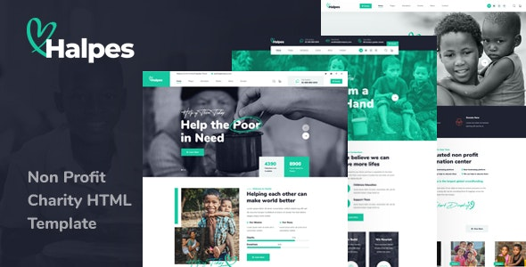 Halpes – Non Profit Charity HTML Template – 30781032 Free Download
