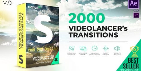 Videolancer's Transitions – Original Seamless Transitions Pack – 18967340