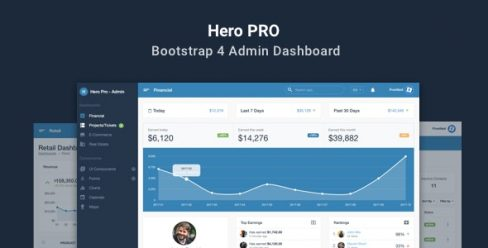 Hero PRO – Bootstrap 4 Admin Dashboard Theme – 21525206