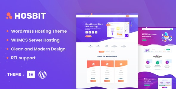 Hosbit – WHMCS & Hosting WordPress Theme – 30051006 Free Download