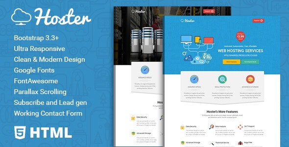 Hoster | Hosting Service HTML Template – 11833611 Free Download