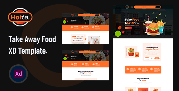 Hotte – Take Away Food XD Template – 28285737 Free Download