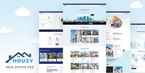 Houzy | Real Estate Listing PSD Template – 23098382