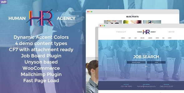 HR Human Consult – Searching & Recruiting WordPress Theme – 20703431 Free Download