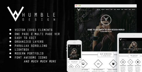Humble – One Page & Multi Page Modern Muse Template – 10329550