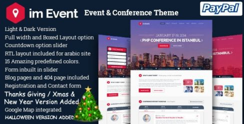 imEvent – Conference Landing Page HTML Template – 8334416