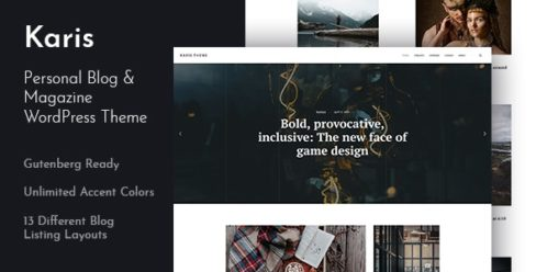 Karis – Personal Blog & Magazine WordPress Theme – 23660767