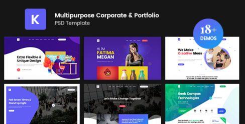 Kreativ – Multipurpose Business Portfolio PSD Template – 23303653
