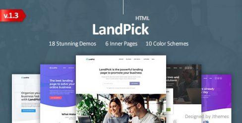 LandPick – Premium Multipurpose Landing Pages Bootstrap 4 HTML Template – 22880842