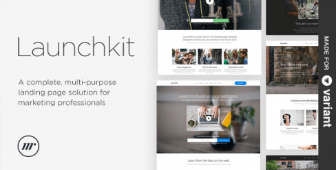Launchkit Landing Page, Variant Builder – 10232103